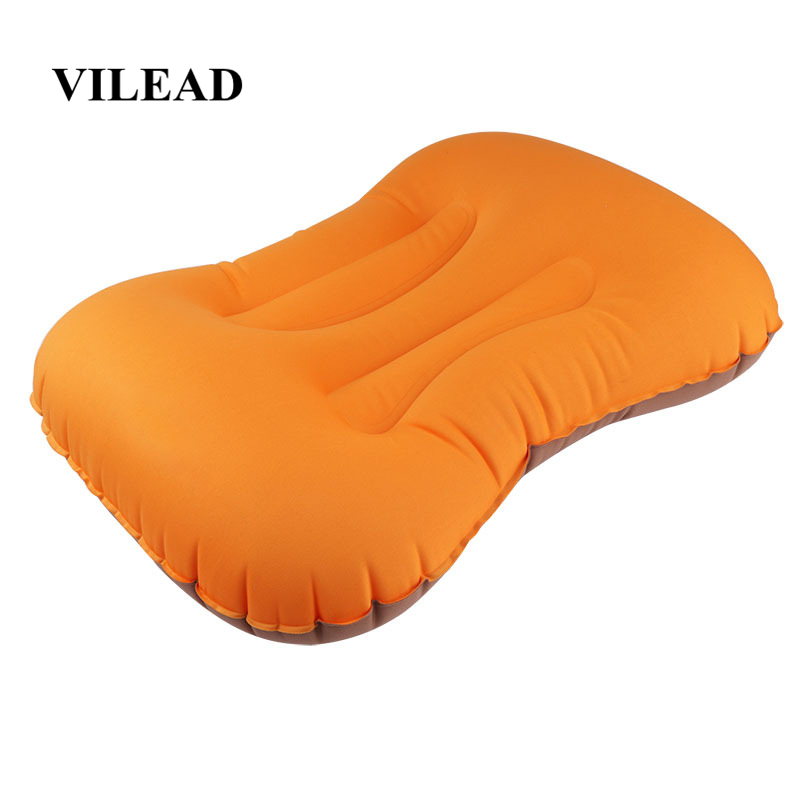 VILEAD Portable Inflatable Pillow 50*36cm Camping Outdoor Hiking Travel Cushion Plane Beach Sleep Ultralight Soft Camping Mat-in Camping Pillows from Sports & Entertainment