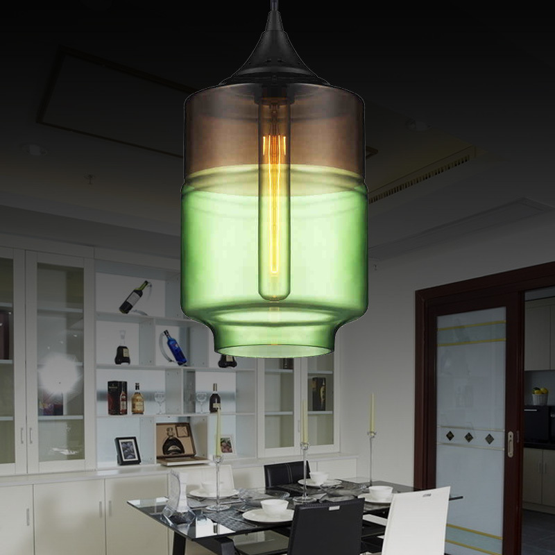 modern stainde glass pendant light fixtures with Shade lamp bar ...