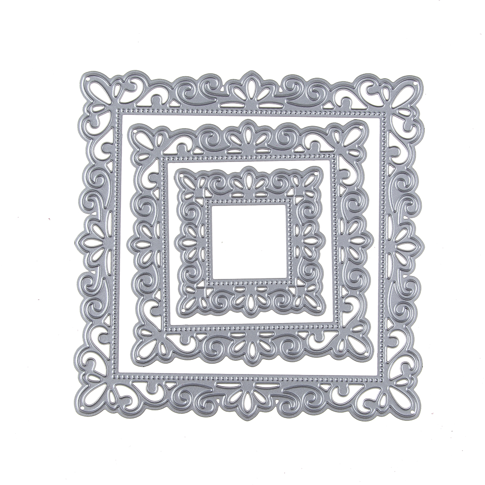 108108mm square border frame cutting dies stencil for diy 108108mm square border frame cutting dies stencil for diy scrapbooking album paper card photo decorative craft die cut in cutting dies from home garden jeuxipadfo Image collections