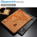 High quality World Map leather case for Apple iPad Air 2 with stand function credit card slots wallet cover for iPad Air2 bag