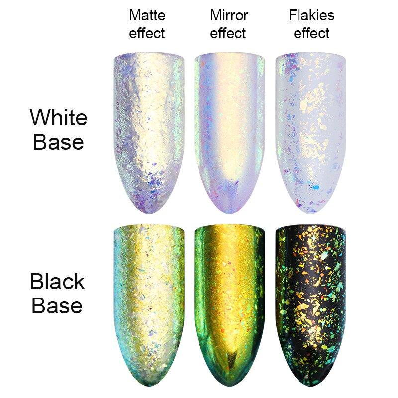BORN PRETTY Neon Chameleon Nail Glitter Mirror Iridescent Chrome ...