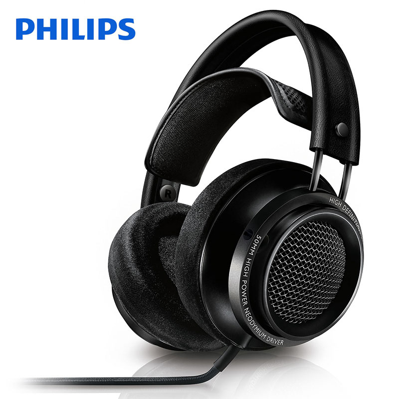Philips Fidelio X2HR headphones With 50 mm high power drive 3meters Line Length for Samsung Xiaomi