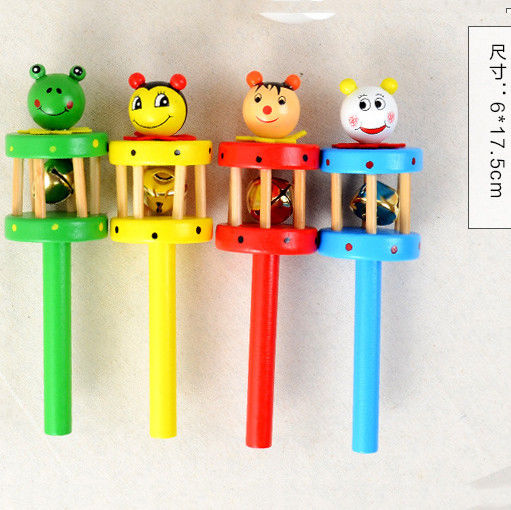 Baby & Toddler Toys Precise Animal Baby Kids Handbells Musical Developmental Wooden Toy Bed Bells Random Toys & Hobbies