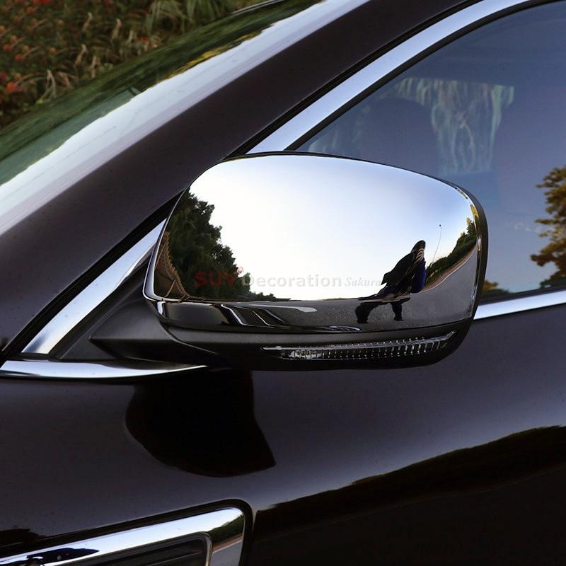 Accesorios brillante espejo retrovisor cubierta 2 unids para Renault Kadjar 2015 2016 2017