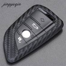 jingyuqin For BMW X1 X5 X6 E70 E71 F15 F16 Sieries Fiber Silicone Auto Key Protection Cover Case Shell Car-Styling(China)