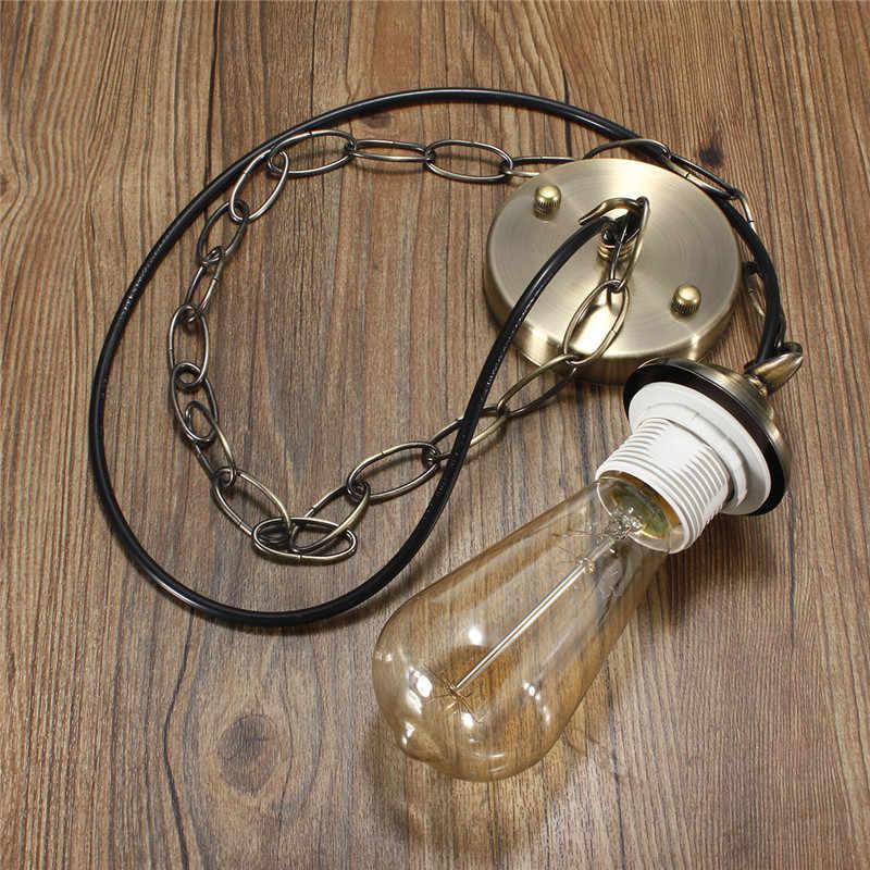 Smuxi E27/E26 Lamp Base Edison Modern Ceiling Rose Chain Pendant Chandelier Light Bulb Lamp Holder Socket Fitting Kit 1M