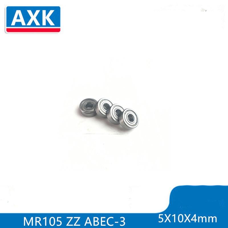 10 piezas 5X10X4 Metal Shields rodamientos ABEC-3 MR105 ZZ rodamiento embrague mr105z mr105zz