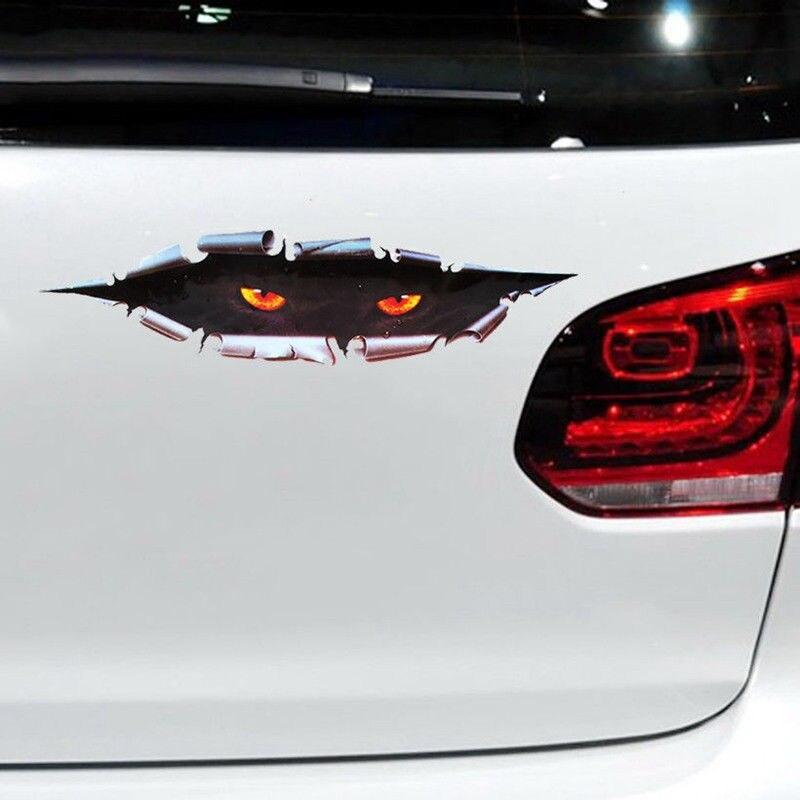3D Cat Eyes Peeper Peeking Car Sticker Bumper Vinyl Funny Waterproof Decal Hot