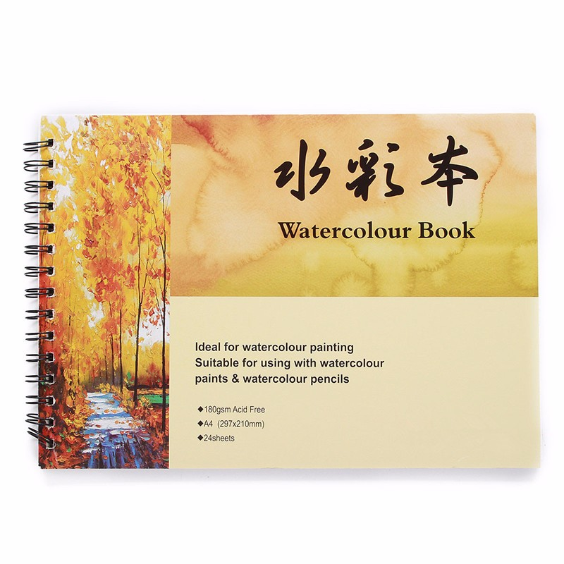 Brand New A4 Watercolor Book Art Artist Sketchbook/Sketch Pad Journal For Drawing Paint For Childrens Painting paper Supplies