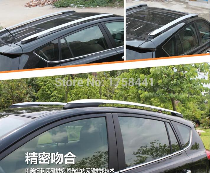 high quality ! OEM Type! Aluminium Alloy Roof Rack Side Rails Bars For TOYOTA RAV4 RAV 4 XA40 2013 2014 north american type 2006 2007 2008 2009 2010 2011 2012 toyota rav4 rav 4 factory style roof rack side rails bars silver