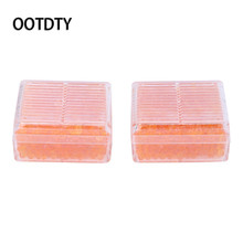 OOTDTY Camera Cleaning 2Pcs Orange Silica Gel Desiccant Moisture Indicating Reusable Absorb Dry Box For Camera