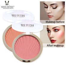 MISS ROSE Brand 6 color cheek is red repair look ruddy nature carries bright rouge makeup