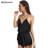 Shilanmei Rompers Womens Jumpsuit Summer Jumpsuits for Women 2017 Backless Off Shoulder combinaison short femme overall Jumpsuit
