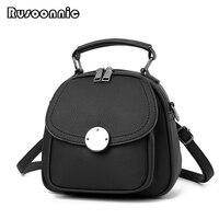 Rusoonnic Small Backpack Women School Bag Leather Multifunction Backpacks For Girls Messenger Bag Bagpack Sac A