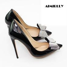 Women Shoes Pointed Toe Silver Bows High Heels Pumps Stilettos Spring Summer Party Clubwear Shoes Sexy Thin Heels Slip-on enmayer summer plus sizewomen pumps high heels stilleto pointed toe slip on sexy shoes women slip on party platform purple shoes