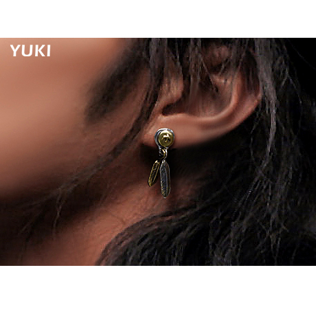 Feathers stud earrings Aliexpress.com : Buy Free shipping,male female thai silver feathers stud  earring girls boys 925 silver jewelry personalized small ears accessories  from ...