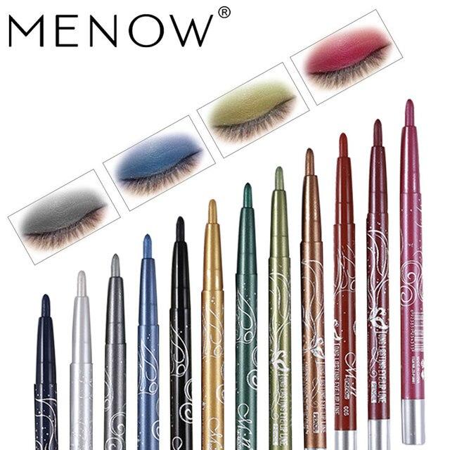 Menow Maquillage ensemble 12 Couleur/kit Étanche ombre à paupières Crayon Rotation Eyeliner Longue durée Eyeliner Cosmétiques maquiagem P10001 1