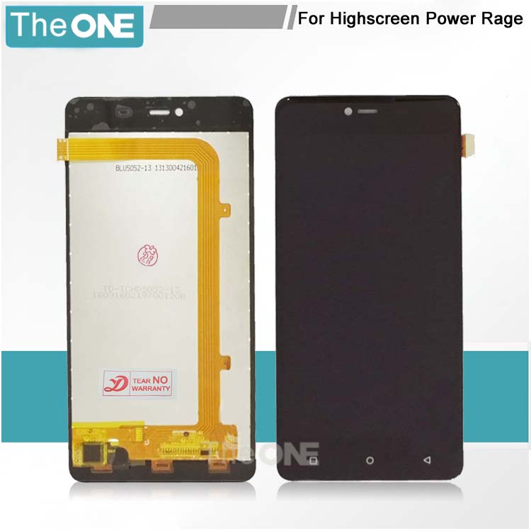 LCD+TP For Highscreen Power Rage LCD Display with Touch Screen Digitizer Assembly Smartphone Replacement pl50 lcd