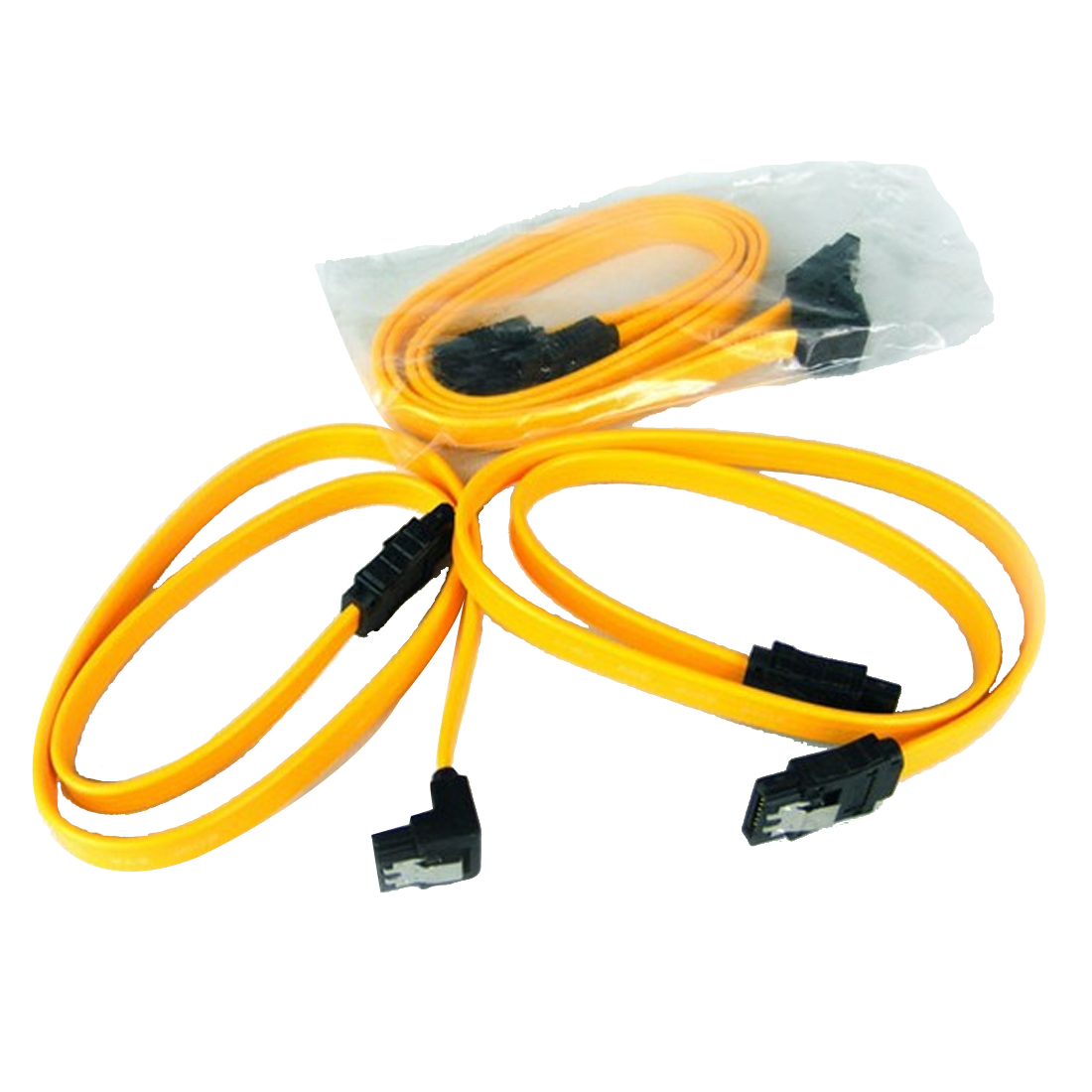 NOYOKERE New 40cm Serial ATA SATA 3 RAID Data HDD Hard Drive Disk Signal Cables Yellow Straight High Speed SATA Data Cable 1PC 2pcs high quality hdd ssd sata3 0 iii 6gb 50cm straight cables right angle cable serial ata hard disk data line soft beautiful