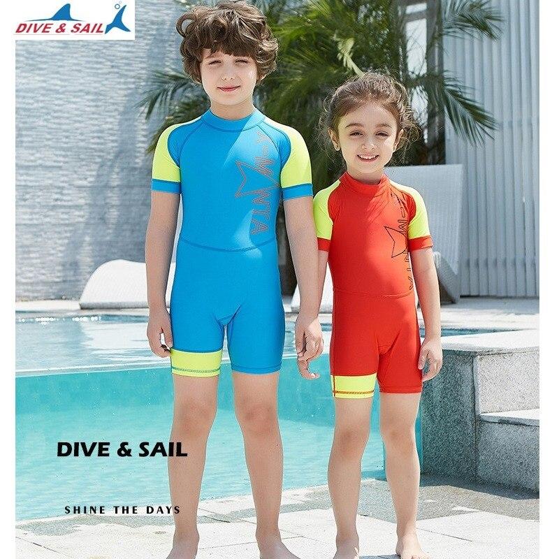 UPF50+ Children Rash Guards Swimwear One Piece Summer Short Sleeve Swimming  Bathing Suit Boys Girls Kids Beachwear Baby Swimsuit 6815d131e