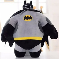 Kawaii Large Size 40cm Batman Stuffed Animals Plush Toys Doll Cartoon Superheros Robot Plush Doll