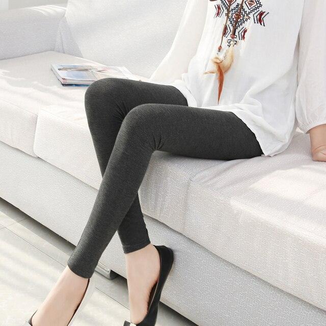 c08a0831e solid color long jeggings s- 7xl women Modal cotton leggings long legging  pants grey black white 6XL 5XL 4XL 3XL XXL XL L M S