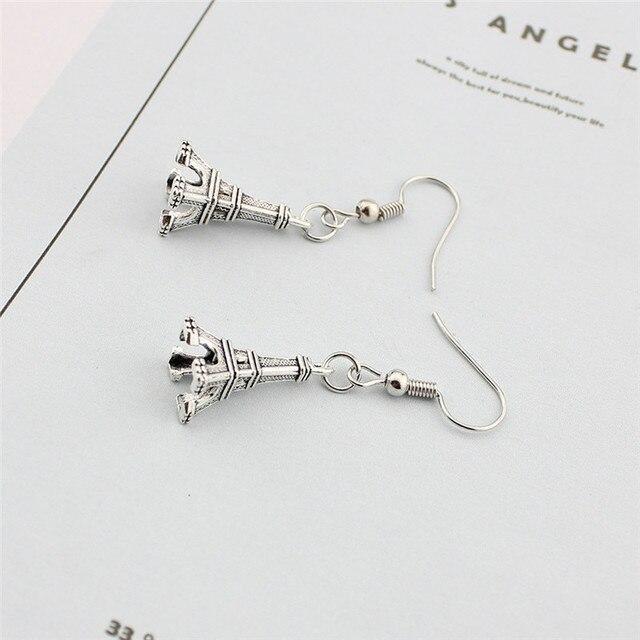 Купить женские висячие серьги с парижским символом и эйфелевой башней