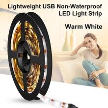 USB LED Strip Light 2835 SMD 5V Flexible Car LED Lamp Tape Ribbon 1M 2M 3M 4M 5M TV PC Desktop Screen Background Bias Lighting
