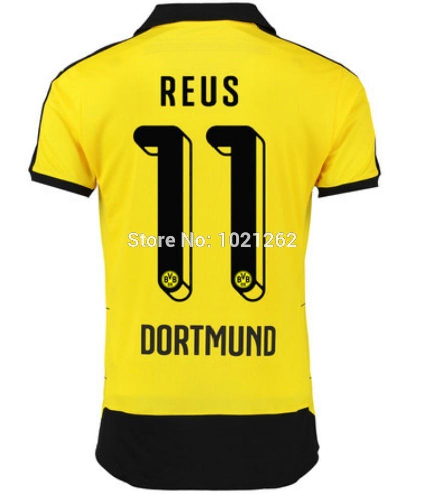Soccer Jersey Borussia Dortmund 2016 MARCO REUS Borussia Dortmund 15 16  Football Shirts BVB Dortmund 2015 Trikot Maillot de Foot-in Soccer Jerseys  from ... 89583da9ea7e0