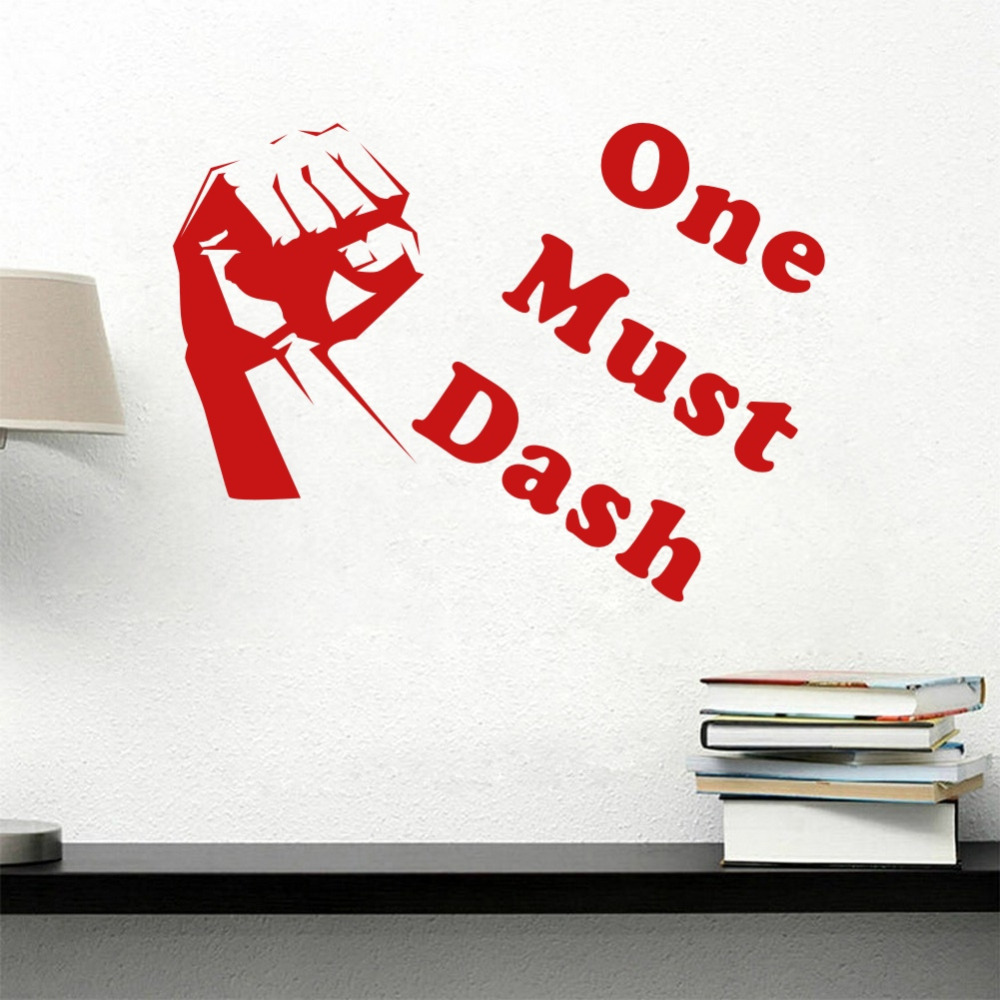 One Must Dash Quote Wall Decals DIY Art Vinyl Home Decor Removable Mural Stickers for Living Room Office