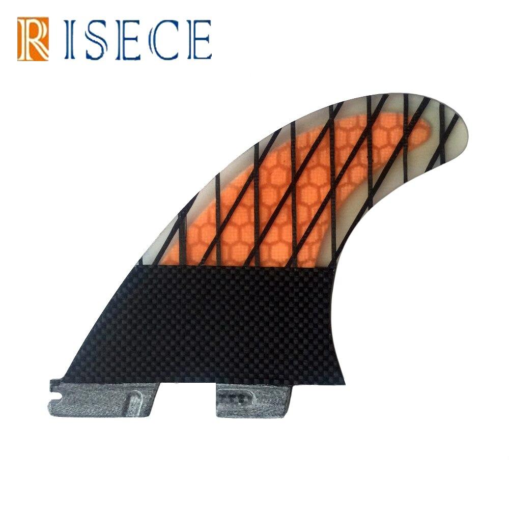 G7 size carbon line FCS2 surfboard fin FCSII carbon base surf fins 3pc set FCSii honeycomb