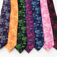 Length 1M Width 1.7M Fashion Silk Polyester Paisley Floral Pattern Ties Neckties DIY Sew Fabric Cloth