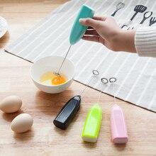 Mini Coffee Milk Frother Handheld Battery Operated Electric Milk Shaker Egg Beater Coffee Blender Whip Foam Countertop Blenders цены