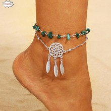 OTOKY Women Chain Dreamcatcher Anklet Jewelry Beach Section Anklets Beads Boho Foot Gothic Bohemian DropShipingSep17(China)