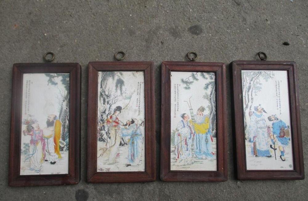Verrassend Art Collection Chinese oude keramiek schilderen met houten frame YP-45