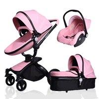3 в 1 Детская любимая Высокая детская коляска для новорожденных дорожная тележка четыре коляска на колесиках может для сидения и лежания вни