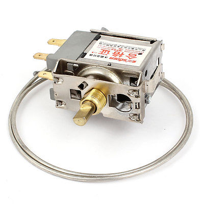 WDF20-L 3 Pin 55cm Metal Cord Freezer Fridge Refrigerator Thermostat wpf22a ac 220 250v refrigerator refrigeration thermostat w 30cm metal cord