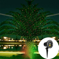 Outdoor Red Green Sky Star Laser Projector lamp Christmas Starry Sky Laser Light Garden Landscape Shower Party Disco Stage Light