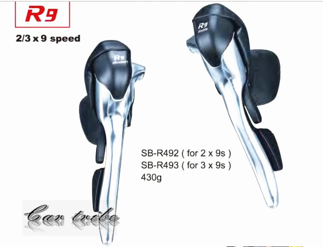 ФОТО compatible 4600 4400 3400Microshift  Road bike r9 DIP 18 27 speed derailleur SB R492 (2x9speed) R493 (3x9speed)
