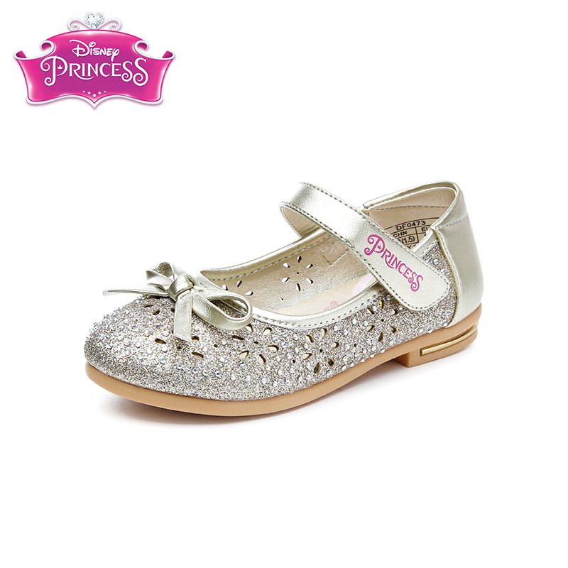 Disney spring new products cute children's shoes 2018 spring new girls single shoes princess girl dance with small leather shoes недорого