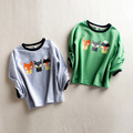 children cotton spring summer clothes girl t-shirt printed tops teen shirts for boys kids long sleeve costume boy clothing