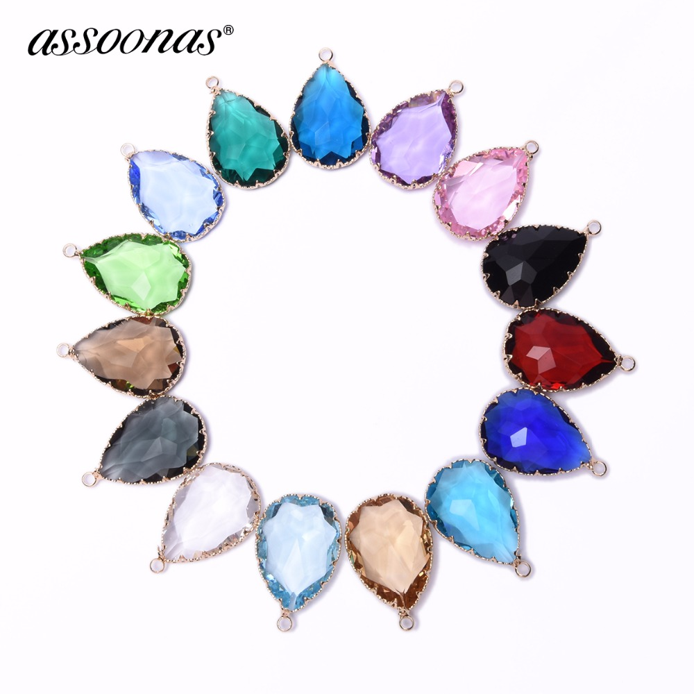 Assoonas M79,jewelry Accessories,jewelry Findings,accessory Parts,diy Necklace,pendant Accessories,glass Crystal,hand Made,2pcs