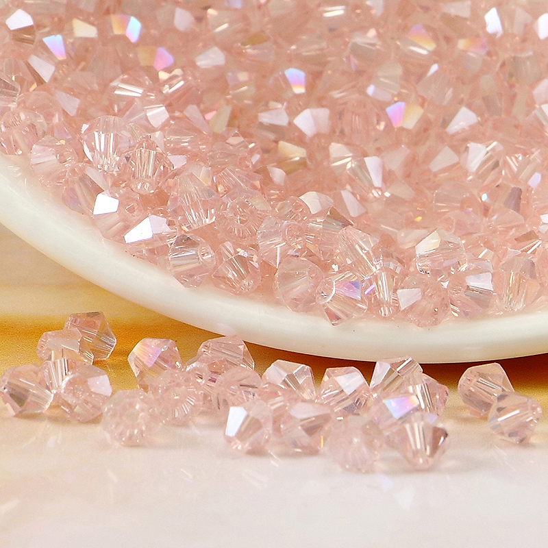 5301# Grade AAA Light Pink AB Color 3mm 4mm,6mm,8mm Crystal Bicone Beads,Garmet/Jewelry Stones Decoration Free shipping