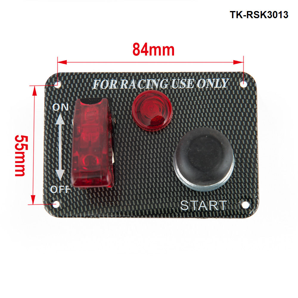 Racing Switch Kit Car Electronics/Switch Panels-Flip-up Start/Ignition/Accessory For Jeep YJ/TJ 87-06 TK-RSK3013
