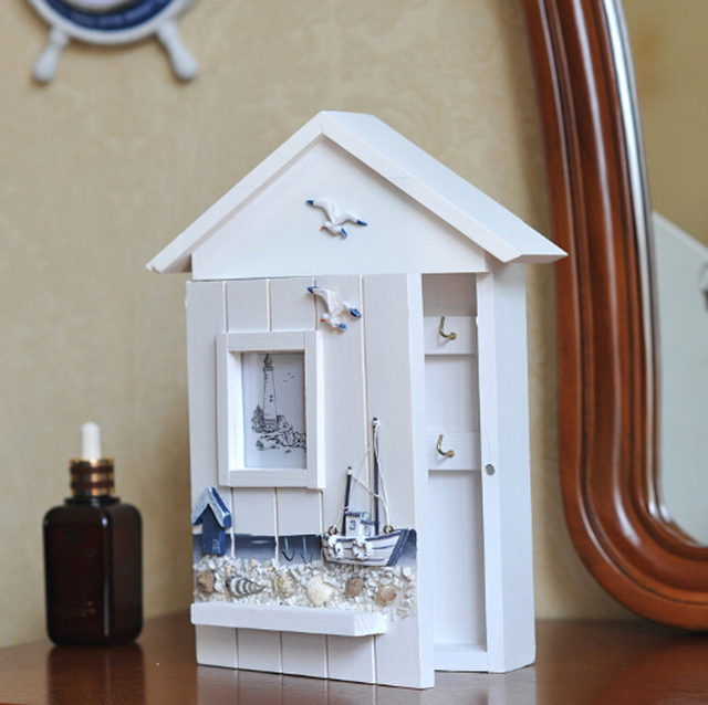 Hot Sell New Mediterranean Style Home Furnishing Wooden Key Box home ...