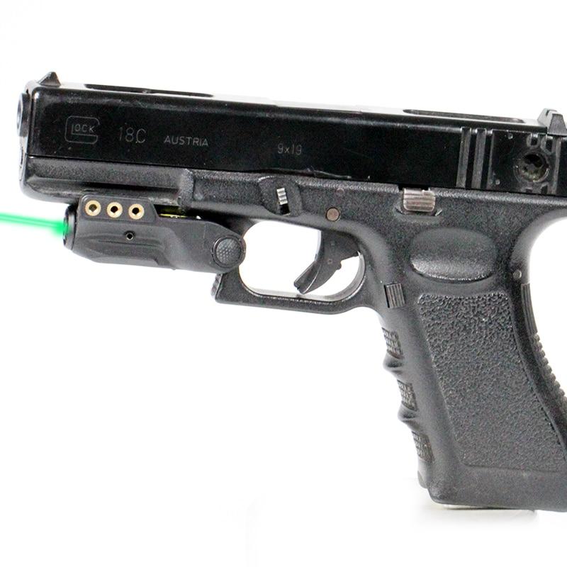 Puissant Visible Glock Laser Vue Léger 515nm 5 mw Rechargeable Mira Laser Par Pistola Pour Sous-Compacte Pistolets De Poche