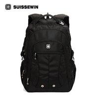 Suissewin Large Capacity Laptop Mans Backpack SN8110 Multi Pocket Backpack Travel Bag Fashion Swissgear Wenger Backpack