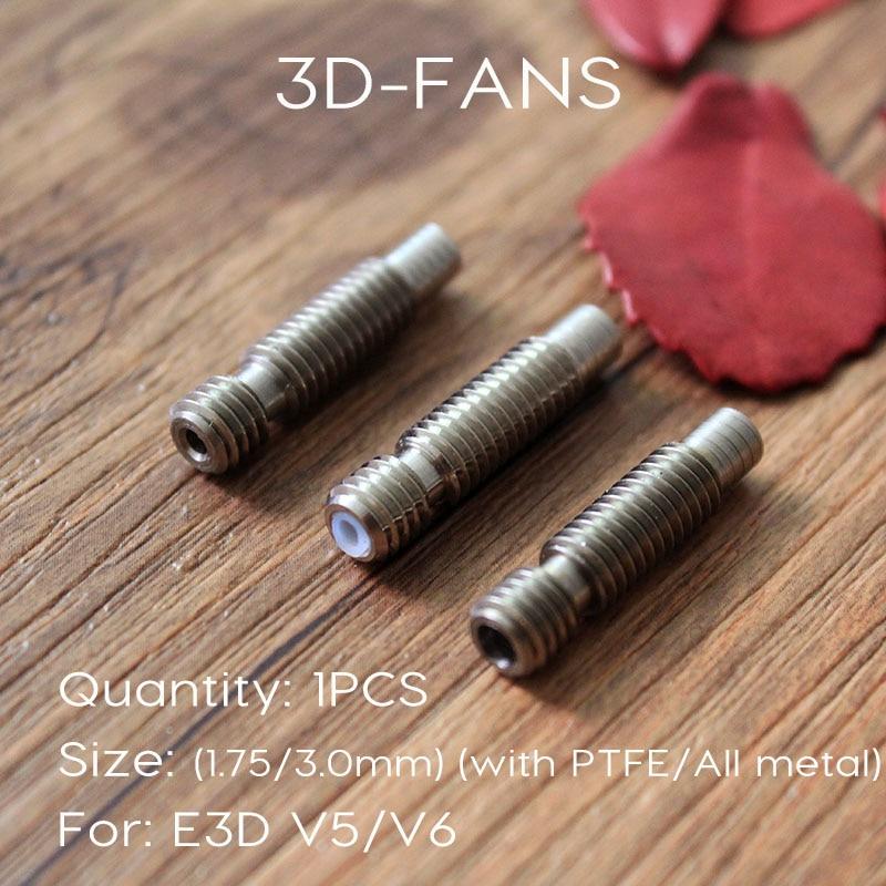 1pc E3D Heat Break Hotend Throat M6 M6 For 1.75 Mm/3.0mm Filament Stainless Steel 3D Printer For E3D V6 And E3d V5