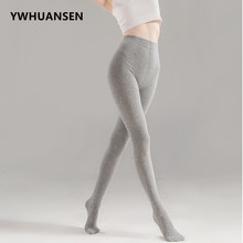 YWHUANSEN Stripe Women's Pantyhose Cotton Spring Autumn Hosiery Women Fashion Knitted Ladies' Tight Knitting Collant Femme Hiver