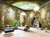 Photo Wallpaper Custom Size Room 3d Mural Dream Fairy Tale Fairyland Forest 3d Painting Backdrop Non